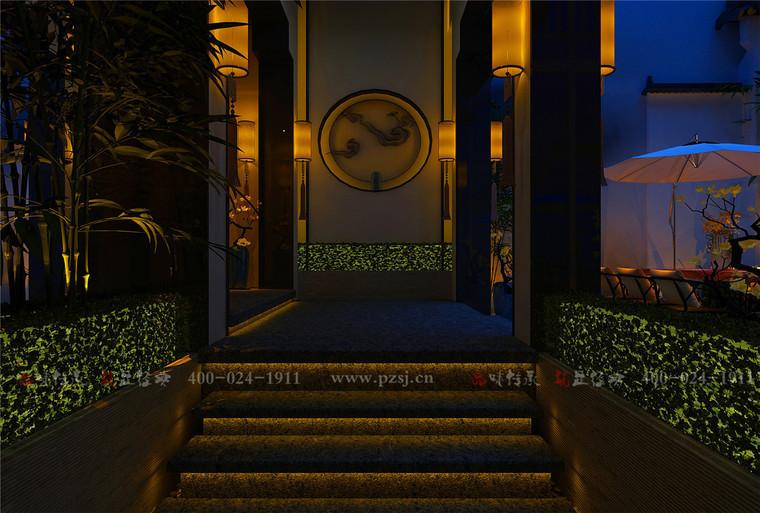 [品筑最新动态]江苏省南通市 下沉庭院餐厅设计