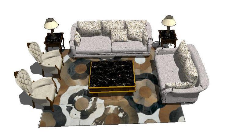 欧式奢华沙发3D模型资料下载-50套欧式沙发SU模型合集