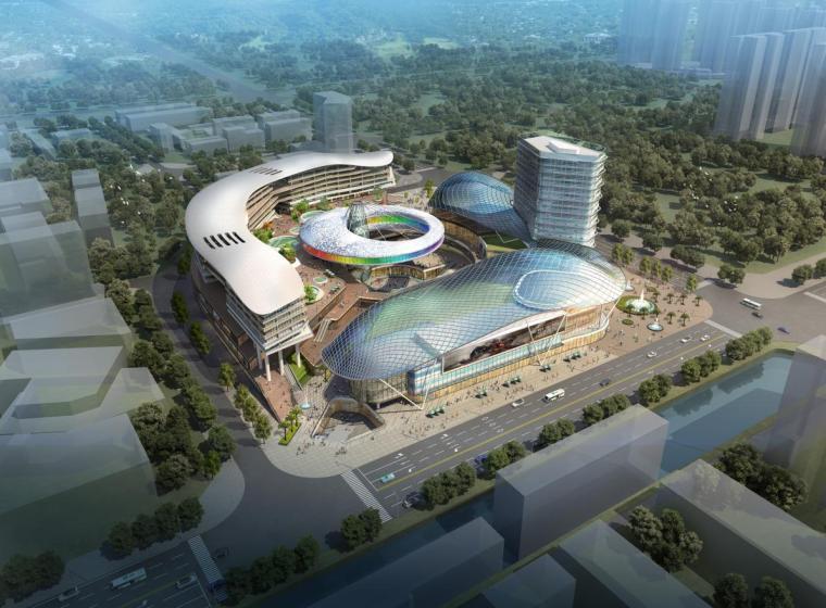 [深圳]高层现代风格壳体造型商业综合体建筑设计方案文本