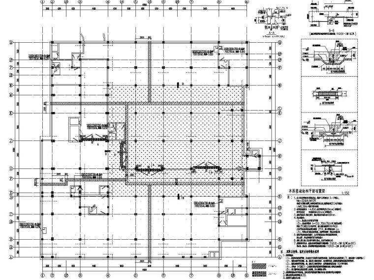 8800平五层框架新校区行政服务楼建筑结构施工图