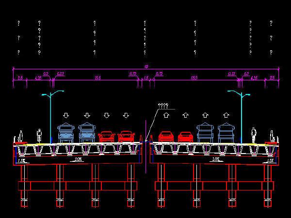 含变截面组合箱梁现浇箱梁密肋式T梁桥市政道路图纸1382张CAD(路桥交通立交照明绿化泵站)