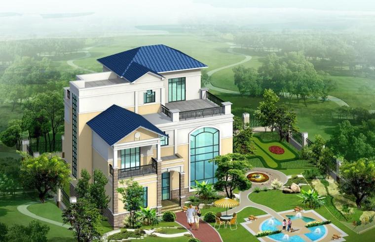 [别墅]二十套多层别墅建筑施工图(部分图纸含有效果图及水电)