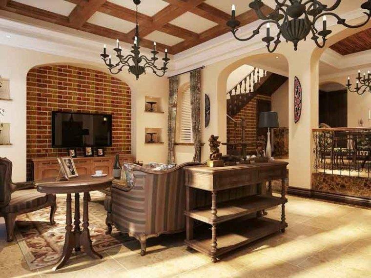 古典大气客餐厅3D模型下载