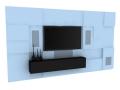 简洁造型墙3D模型下载