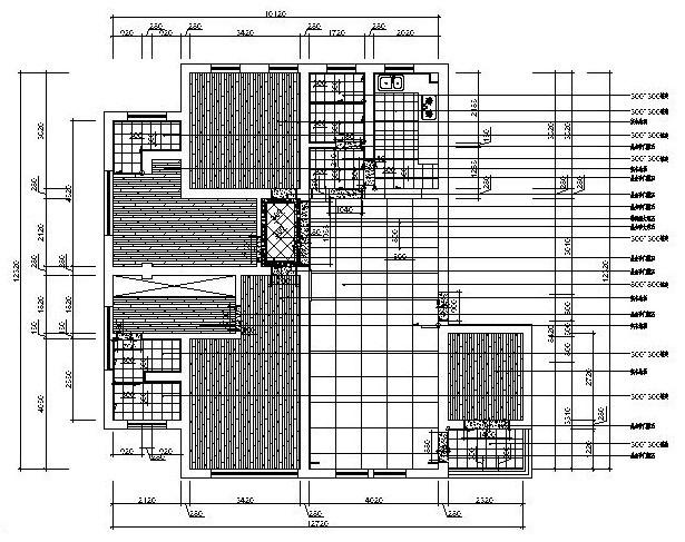 中西混搭风格住宅装修施工图设计(附高清效果图)