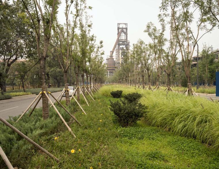 北京首钢晾水池东路景观-10