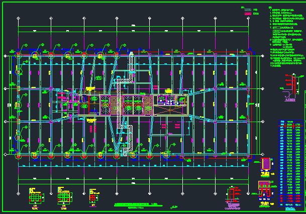 25层华润框架核心筒商业办公楼结构施工图_3