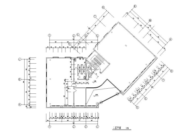 3套现代宾馆酒店建筑设计施工图CAD_3