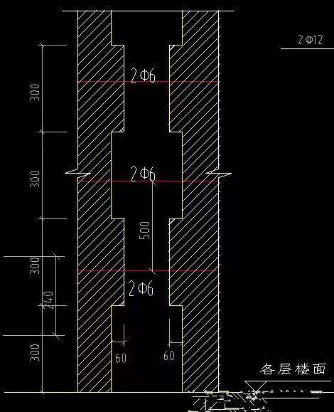 多层建筑,砖砌体结构构造柱拉结筋设置规范要求