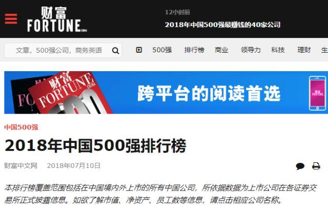 2018财富中国500强出炉|26家建筑企业上榜!_2