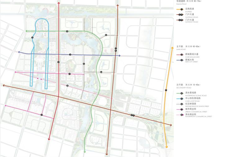 [江苏]南通市经济技术开发区核心区域景观规划(带状,水绿渗透)-C交通分析