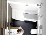 浴室面积小,设计也要巧。