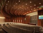 现代阶梯会议室3D模型下载