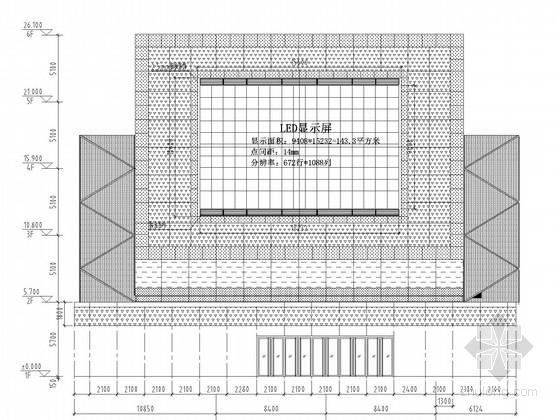 户外LED显示屏钢桁架结构施工图