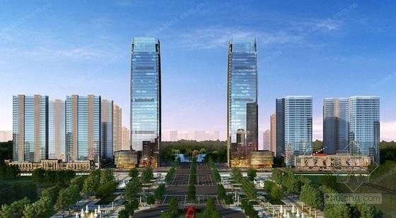 [安徽]40层框架核心筒结构超高层办公楼结构施工图(AB塔楼 设停机坪)