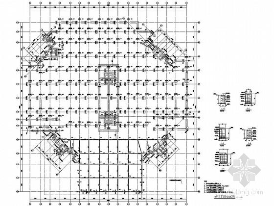 地下三层框剪结构旅游文化创意产业园人防工程结构施工图