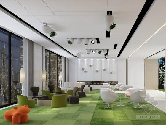 [杭州]现代简约售楼处室内装修图(含效果和实景) 效果图