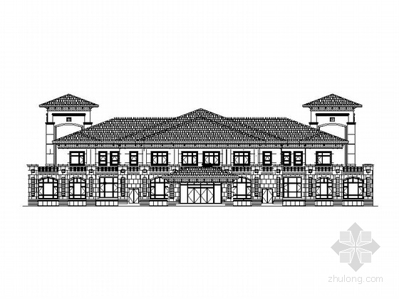[吉林]两层西班牙风格会所建筑施工图(2014.5)