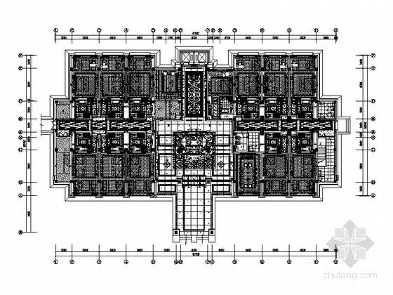 [江苏]优雅浪漫酒店客房楼装修CAD设计图