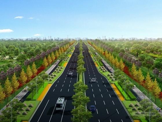 [广西]沿海城市景观大道全套施工图设计673张(桥涵排水景观电气)