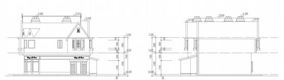 [大连]英式风情小镇住宅小区及商业规划设计方案文本-英式风情小镇住宅区及商业规划立面图