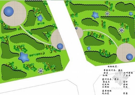 百草园景观节点平面图