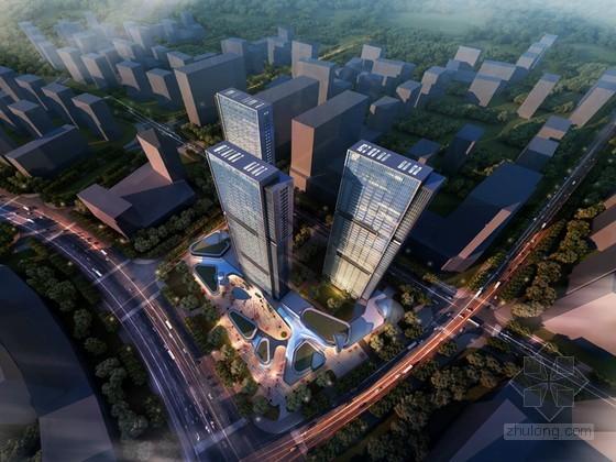 商业综合建筑鸟瞰3D模型下载
