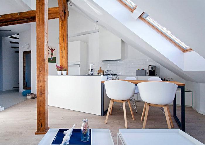 波兰:宁静明亮的阁楼公寓_3