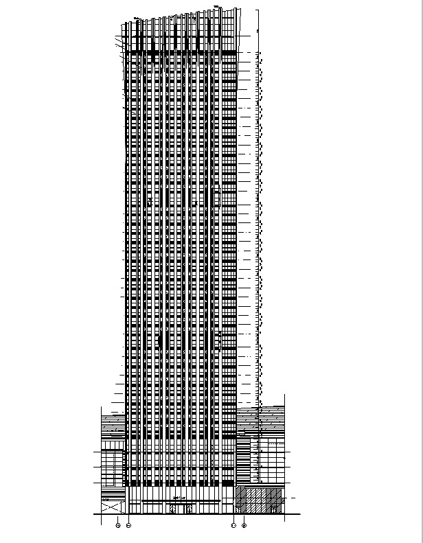 [江苏]超高层SOHO中心及10栋华润商业中心全专业图纸(审图图纸)