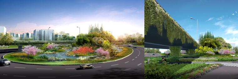 [湖北]中华一路道路景观规划设计(PDF+66页)-效果