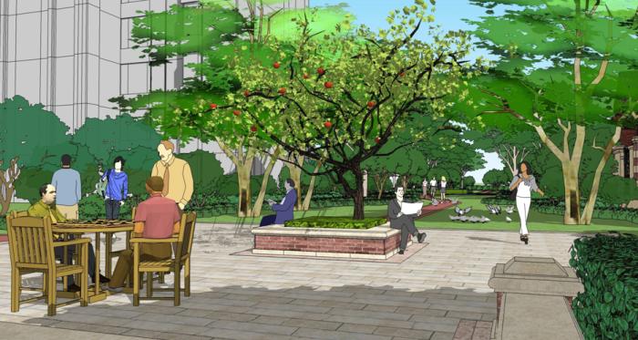 [河北]牛顿庄园高级住宅区景观规划设计方案