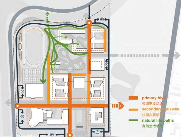 [江苏]传统精致园林高中校园景观规划设计方案_8