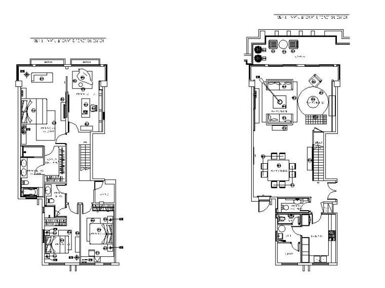 [香港]简约格调设计三居室施工图(含实景图)_1