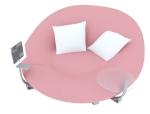 时尚圆形沙发3D模型下载