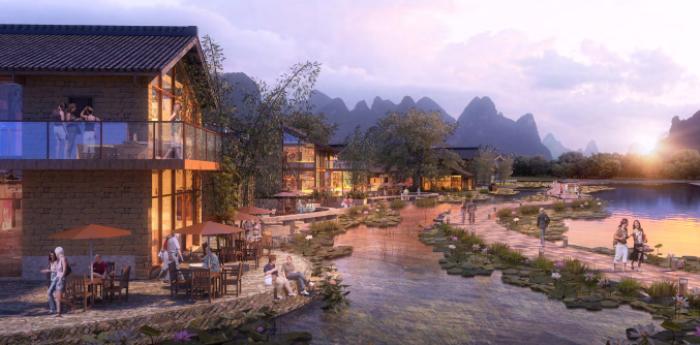 [广西]桂林风情古镇老街乡村景观设计方案(赠项目lumion动画)-效果图15