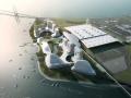 [广东]双向正交桁架结构沿海港口商务枢纽区建筑方案文本