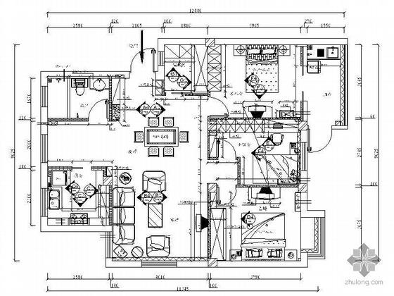 三室二厅设计方案图