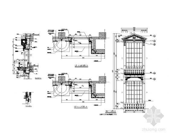 欧式建筑连窗详图2