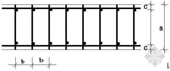 水平梯子筋节点图