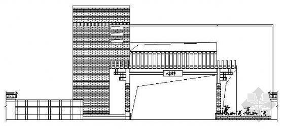 某别墅小区大门建筑施工图
