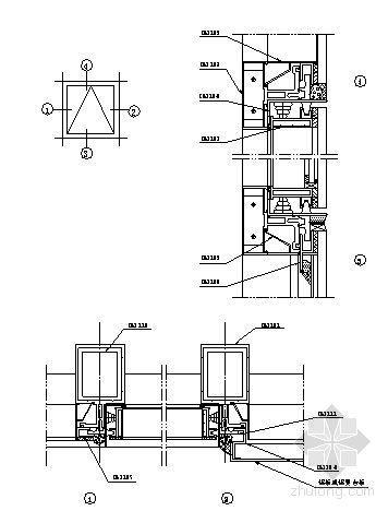 U型玻璃幕墙隔断资料下载-180系列(D型)隐框玻璃幕墙装配图