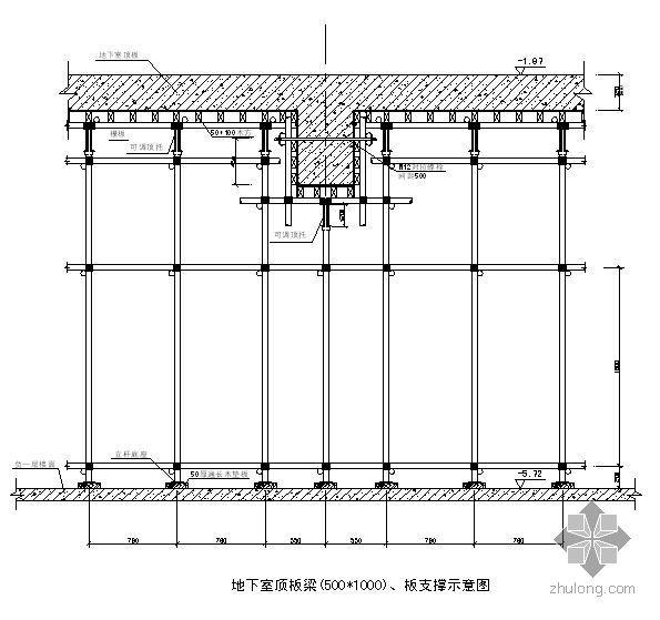 常州某框剪建筑工程模板支撑系统施工方案