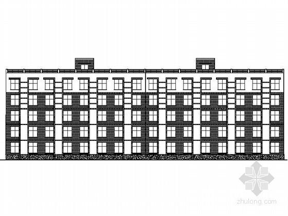 [郑州]某大学五层内廊式宿舍楼建筑施工图