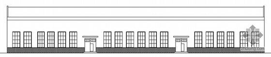 坡屋顶维修车间建筑施工图(墙身 檐口 平立剖)