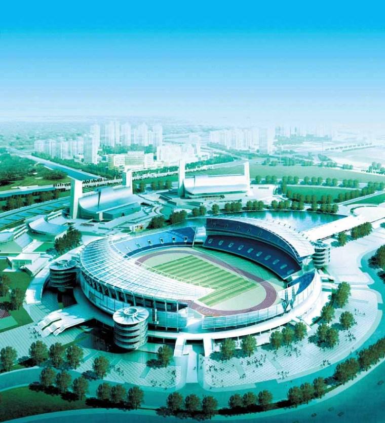 宁波奥体中心钢结构工程明年建成,四单体场馆后年开放