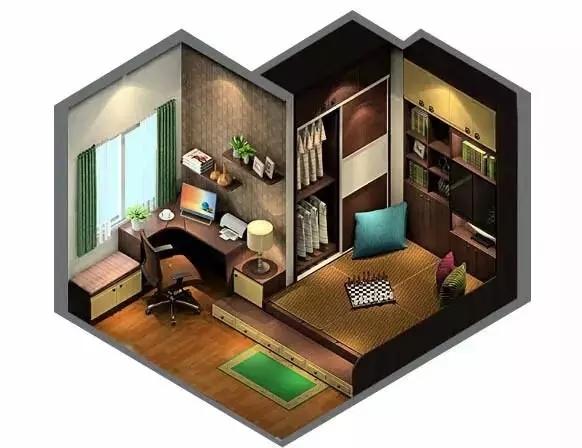 榻榻米 书房客卧