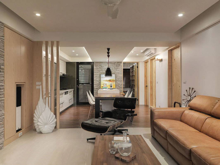 九十九平现代简约风格两居室老房装修改造
