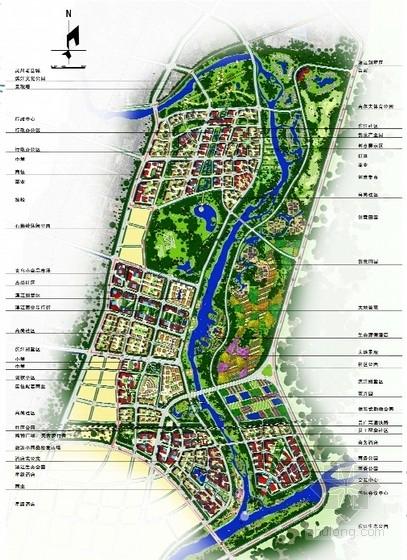 现代风格城市核心片区规划设计方案总平面图