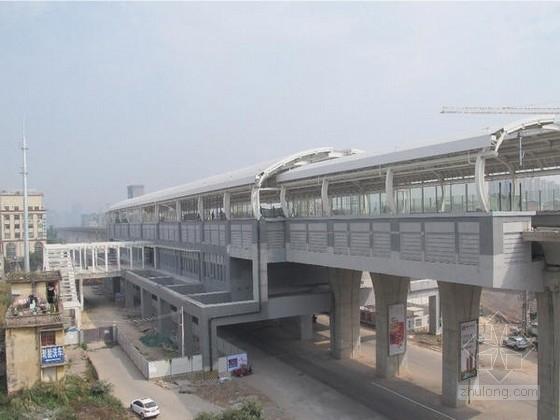 [广东]站桥合一城际轨道交通站图纸113张(含装修暖通雨棚 信息系统)