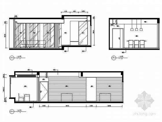 [广东]名师设计多层住宅区C型高档现代四居室装修施工图客餐厅立面图